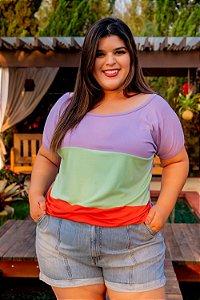 Blusa Tricolors Plus Size