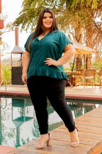 Blusa Life Green Plus Size