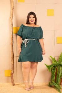 Vestido Megan Green Plus Size