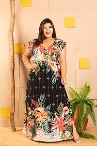 Vestido Magnifique de Barrado Plus Size