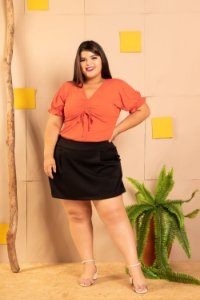 Short Saia Delicat Plus Size