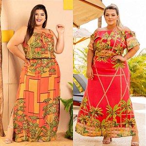 Kit Alegria com 2 Vestidos Longos (Economize 100,00)