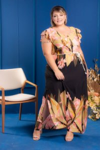 Vestido Long Black Plus Size