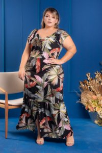 Vestido Long Sereia Plus Size