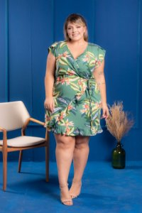 Vestido Forest Green Plus Size