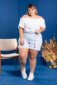 Short jeans Autthentic Plus Size