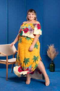 Vestido Magic Yellow Plus Size