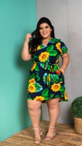 Vestido Floral Winner Plus Size