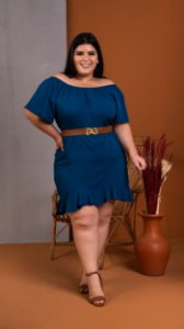 Vestido Saint Blue Plus Size