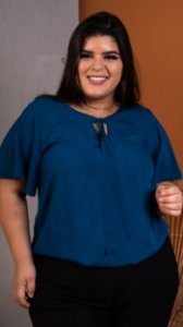 Blusa Night Blue Plus Size