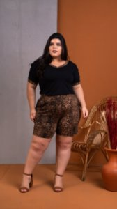 Blusa Up Animal Print Plus Size