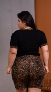 Short Up Animal Print Plus Size