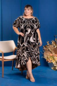 Vestido Long City Plus Size