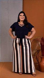 Blusa Flex Preta Plus Size