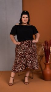 Saia Envelope Animal Print Plus Size