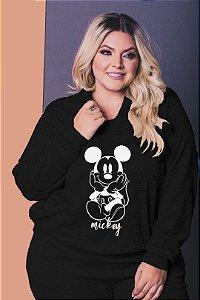 Blusão Mickey de Moletinho com Elastano