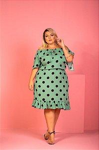 Vestido Poá Green