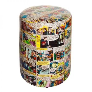 Puff de Tecido Sintético DC Comics Colorido