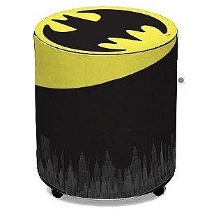 Puff de Tecido Sintético - Logo Batman
