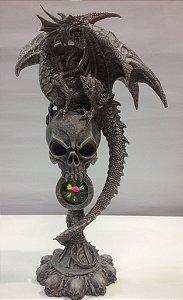 Dragão Cinza com Cranio Caveira
