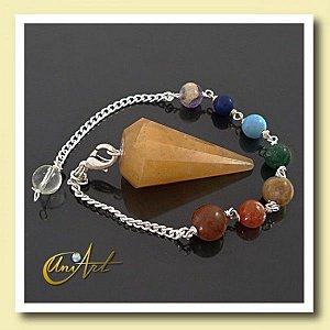 Pêndulo pulseira com 7 Pedras - Calcite