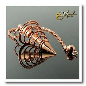 Pêndulo Espiral de Metal Cobre