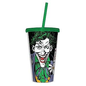 Copo com Canudo - DC Joker com Baralho