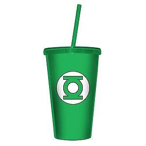 Copo com Canudo - DC Green Light Verde