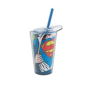 Copo com Canudo - DC Superman