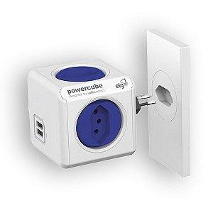 Multiplicador 4 Tomadas Bivolt + 2 USB 2.4A - PowerCube Original USB - PWC-R4U