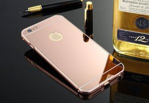 Capinha Luxo Espelhada Rosé