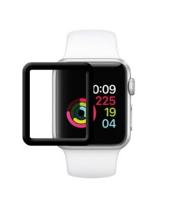Película Premium HPrime Apple Watch 42mm [Preto] - ColorGlass 6D (Cobre A Parte Curva Da Tela)