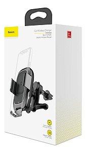 Suporte Carregador Veicular Inteligente sem Fio QI Wireless com Infravermelho - Baseus