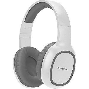 Fone de Ouvido Headset Bluetooth C/ Microfone - Entrada Micro SD - C/ Cabo Micro USB - Branco/Cinza - EPB-MS1SL - ELG