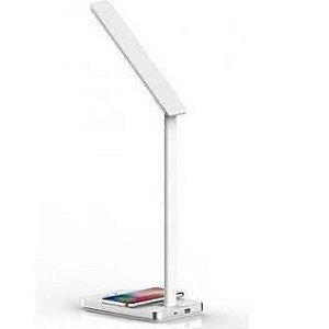 Carregador por indução + Usb com Luminária  de led - Xtrax