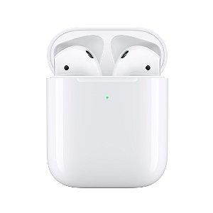 Fone de Ouvido Intra auricular Bluetooth Modelo Airpods 2 - Similar com carregamento por Indução - TWS