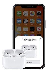 Fone de Ouvido Intra auricular Bluetooth Modelo Airpods Pro Similar com carregamento por Indução - TWS