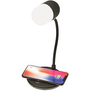 Luminária com Carregador por indução + Caixa de Som - 3 In 1- L4 Smart PowerSound Lamp