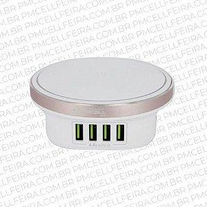 Carregador Super Rápido com 4 Saídas USB + Luminária - HOME CHARGER -  HC-53 - PMCELL