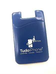 Porta-cartões para celular - Azul - TudoiPhone