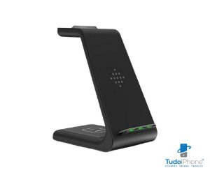 Carregador de Mesa por Indução 3 em 1 ( iPhone / Apple Watch e Airpods) - Wireless - T3 - RohS