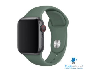 Pulseira Apple Watch - Silicone Tradicional 38/40mm - Verde Escuro