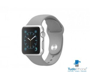 Pulseira Apple Watch - Silicone Tradicional 38/40mm - Cinza