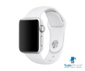 Pulseira Apple Watch - Silicone Tradicional 42/44mm - Branca