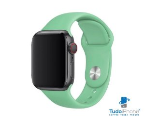Pulseira Apple Watch - Silicone Tradicional 42/44mm - Verde claro
