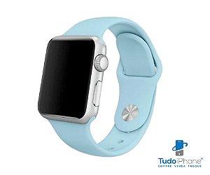 Pulseira Apple Watch - Silicone Tradicional 42/44mm - Azul Bebê
