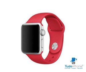 Pulseira Apple Watch - Silicone Tradicional 42/44mm - Vermelha
