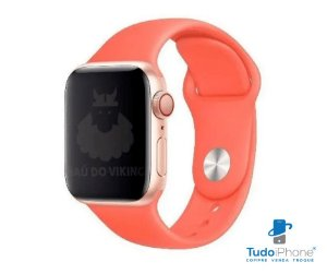 Pulseira Apple Watch - Silicone Tradicional 42/44mm - Coral
