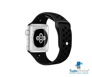 Pulseira Apple Watch - Silicone Esportiva 40/44mm - Preta