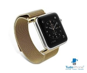 Pulseira Apple Watch - Estilo Milanês 38/40mm - Dourada